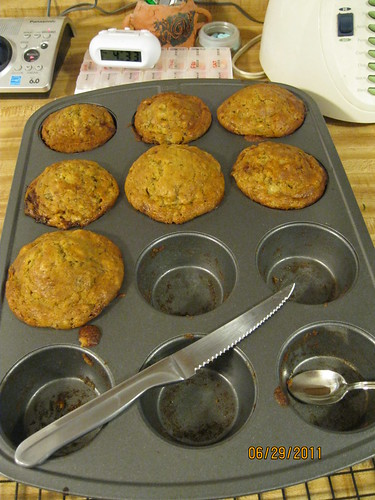 6/29/11: Baking Day : Banana Bread Muffins
