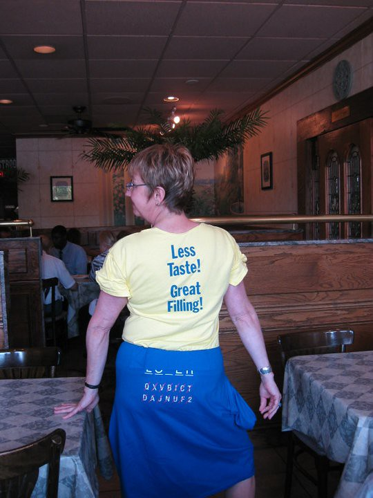 Loser T-shirt dress, rear view