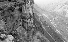 The Cave Fortress (Mount Arbel, Israel) (Fogel's Focus) Tags: israel stand 28mm olympus rodinal zuiko f28 2012 1100 acros hikingtrip agfarodinal om1n 45min film:iso=100 legacypro100 developer:brand=agfa developer:name=agfarodinal film:brand=freestylearista freestylearistalegacypro film:name=freestylearistalegacypro100 filmdev:recipe=6345