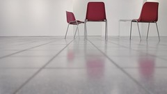 Symposium, 2012 (Claudio Turri) Tags: red 3 blur three chair chairs space snapshot 169 tre symposium mygearandme