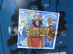 The Diagnosis of Sharkula (silverfuture) Tags: chicago pasteup sticker hiphop theloop sharkula thig postalbox thigamahjigee