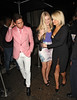 Joey Essex and Sam Faiers Celebrities outside Aura Nightclub London, England