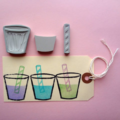bubble tea. (stacy.rodriguez) Tags: carved hand tea rubber stamp bubble