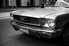 mus tang (lonely radio) Tags: film australia melbourne rangefinder headlights victoria pc3000 cbd grille asphalt fordmustang oldcars leicam6 kodakplusx 125px auspctagged leicasummicron50mmf2collapsibleltm scansf20120606m6sum50125px11