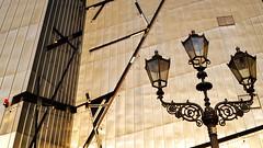 Lamppost Fixation (Blue Rave) Tags: building berlin lines museum architecture germany deutschland holocaust europa europe streetlamp line diagonal lamppost 2012 jewishmuseum jdischesmuseum
