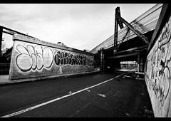 20h30 (giuseppe pascale) Tags: travel bridge light sky urban cloud white canada black window glass architecture night train concrete grey graffiti paint path montreal steel tag line letter arrow sigma1020 gpfoto nikond300 giuseppepascale giuseppepascalephotography