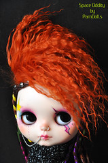 Space Oddity (♥PAM♥dolls♥) Tags: dreadlocks punk chips mohair blythe piercings redhair blythedoll spaceoddity pamdolls