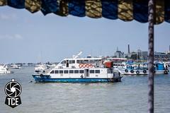 A Boat in Mumbai Harbor (The.Creativity.Engine) Tags: blue sea india harbor boat harbour gateway mumbai gatewayofindia mumbaiharbour