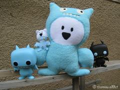 Ugly Ice-Bats (tiramisu_addict) Tags: bear toys handmade plush madebyme uglydolls icebat funko davidhorvath sunminkim susuten uglycon icebatciwwong
