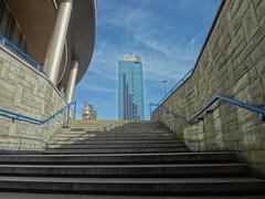 Up the Stairs in Warsaw, Poland (pasa47) Tags: june europe poland warsaw easterneurope warszawa pl 2014