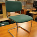 Green cantilever office chair