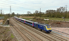 43004 43002 1L42 0730 Carmarthen - Paddington at Duffryn Newport 19.04.2016 (The Cwmbran Creature.) Tags: british rail class railway train trains 43 hst
