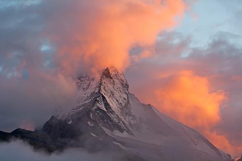 Sonnenuntergang auf dem Matterhorn