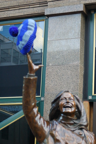 Intl Yarn Bombing Day - Mary Tyler Moore