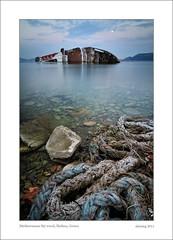 Mediterranean Sky wreck (alexring) Tags: sea bw nikon greece shipwreck nd wreck d300  mediterraneansky elefsina 10stop alexring