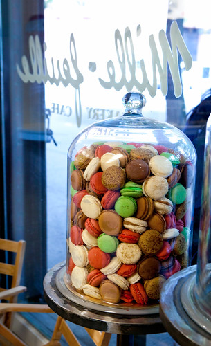 Huge jar of macarons