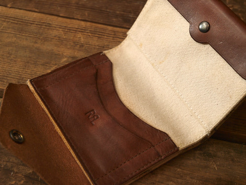 RRL / Print Canvas&Leather Wallet