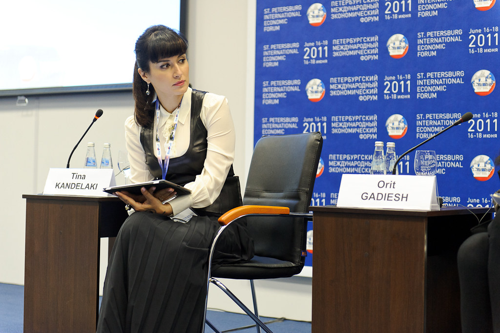 Тина Канделаки - модератор Петербургского экономического форума