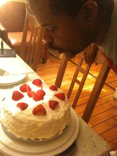 Me blowing out the cake!