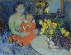 [ P ] Pablo Picasso - Mere et Enfant au Fleurs (Mother and Child with Flowers) (1901)