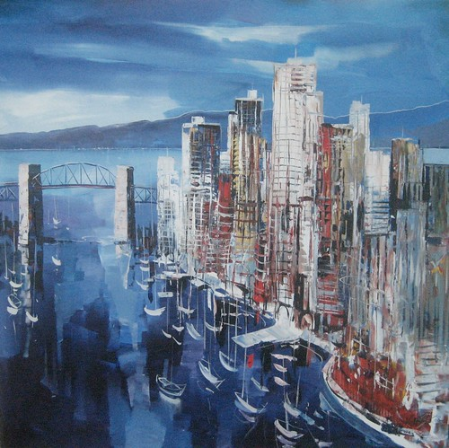 Vancouver Cityscape - Painting - Impressionism