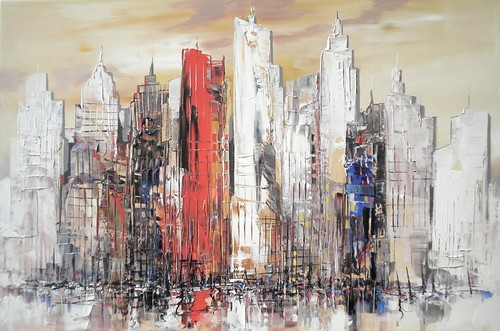New York - Painting - Abstract Impresionism