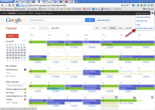 GCal: Use the classic look