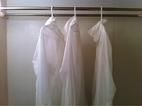 白シャツの手洗い