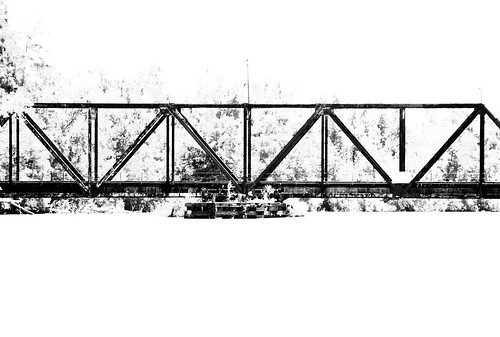 Echo Railroad Bridge over Sabine River, north of I-10, Orange, Texas 0625111304BW