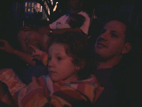 Fireworks with daddy.
