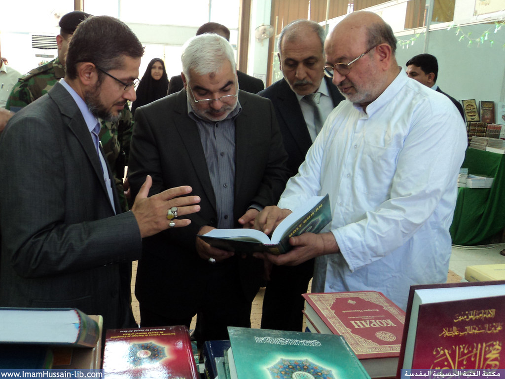 حضور محافظ كربلاء المقدسة في معرض الكتاب الدولي السابع