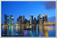 Singapore (fiftymm99) Tags: reflection water marina river lights one restaurant hotel bay pier nikon singapore waterfront may bank business esplanade cbd sands clifford standard fullerton ntuc d300 marinabay uob charted fiftymm99 gettyimagessingaporeq2