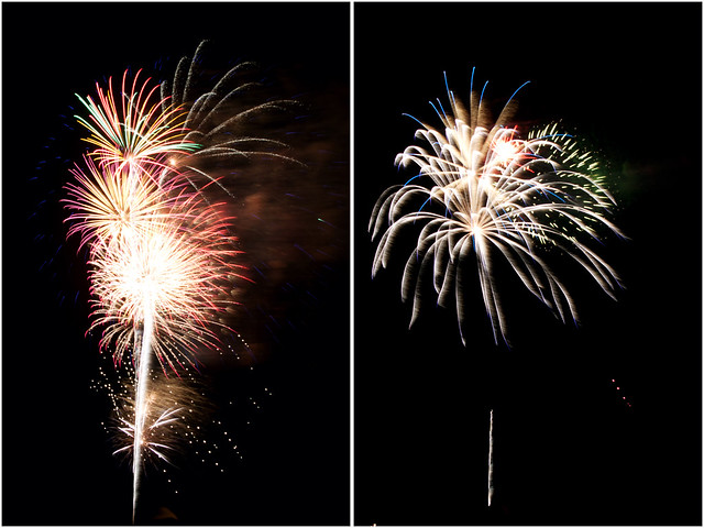 July 4th fireworks diptych 20