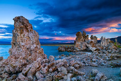 South Tufa Sunset (jeandayphotography.com) Tags: california ca sunset lake mountains color fall water clouds landscape october desert monolake tufa 2010 leevining mhw jday easternsierranevada jeanday mountainhighworkshops monolaketufareserve