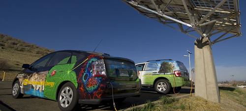 Зарядка электромобилей с использованием солнечной энергии