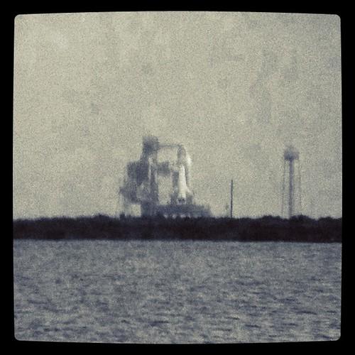 Atlantis: As seen from my iPhone+Binoculars #sts135