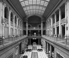 Hartford City Hall (Bereno DMD) Tags: blackandwhite bw panorama monochrome photoshop mono cityhall perspective panoramic stack photomerge pan hartford merge