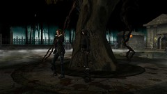 Tomb Raiders 2 (alexandriabrangwin) Tags: world park trees woman graveyard ava sisters forest computer dark fun 3d graphics exploring tomb creepy adventure foliage lara croft secondlife virtual guns calas cgi adventurer raider crossbows spectres avagreen alexandriabrangwin
