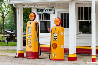 Historic Route 66 - Soulsby Shell Service Station at Mount Olive, Illinois