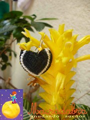 Aretes corazn en #macrame (Macradabra) Tags: hearts earrings pendientes corazones aretes hechoamano macram macradabra