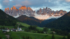 Sunset from Santa Maddalena val di Funes (chris lazzery) Tags: sunset italy mountains dolomites alpenglow southtyrol valdifunes canonef24105mmf4l canon6d santamaddalena saintmagdalena villnos