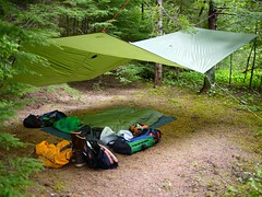 Our Tarp at Petroglyph (The Cabin On The Road) Tags: alaska kayak tarp seakayaking southeastalaka