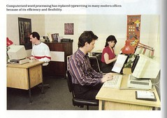 The Modern office -from Computer Literacy text book 1986 (SlantedEnchanted) Tags: from modern computer book office text 1986 literacy
