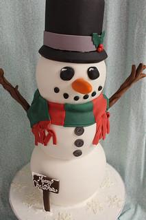 Snowman Cake med