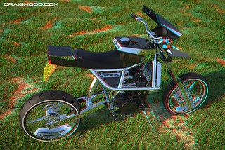 KZX 1000 bike I designed myself (3D anaglyph view with red/blue glasses)