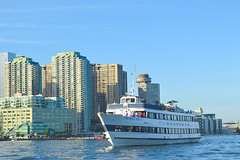 Northern Spirit and harbourfront background