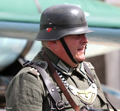 Brighouse 1940s Weekend -  IMG_0518 (grab a pic) Tags: uk england man canon vintage soldier army eos war uniform military yorkshire wwii 1940s german 7d ww2 reenactment westyorkshire worldwar2 oldfashioned livinghistory 2014 brighouse calderdale warweekend
