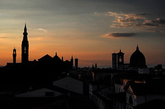 """""""Florence at Sunset"""" (helmet13) Tags: leicaxvario studies sunset city silhouettes florence italy basilicadiesantacroce palazzo vecchiocattedrale fiore silence architecture building rooftops cattedraledisantamariadelfiore peaceful aoi heartaward peaceaward 100faves world100f level2platinumpeaceaward platinumheartaward"""