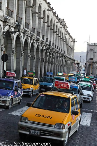 So many taxis in Arequipa!