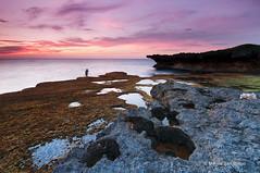 Rock n Holes [Explored] (Meljoe San Diego) Tags: sunset sea sky seascape clouds nikon rocks philippines holes reverse nikkor pangasinan rockformation d300 patar bolinao gnd singhray leefilter 1024mm meljoesandiego